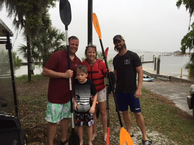 kayaking daufuskie island in the rain