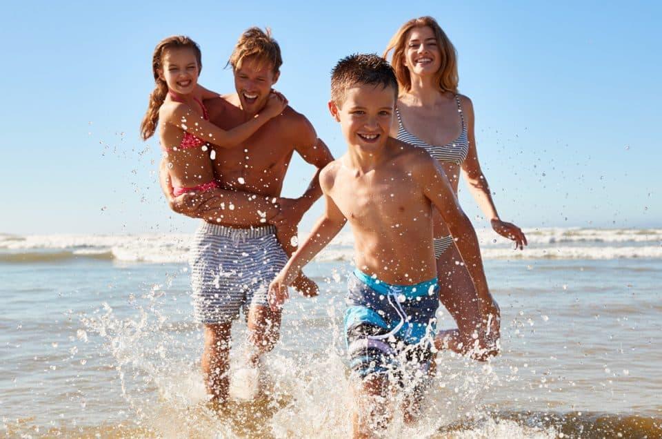 Family having fun at a Daufuskie Island Beach