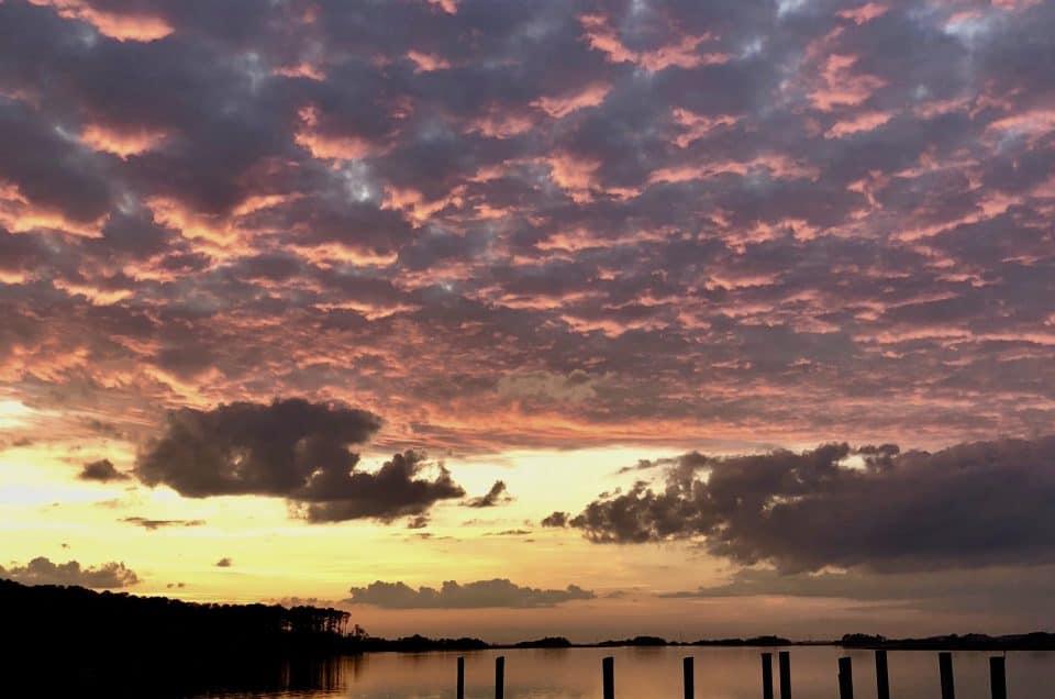 Beautiful sunset on Daufuskie Island