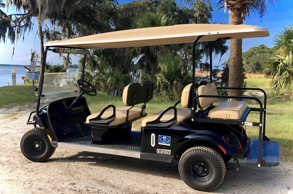 Daufuskie Island six passenger golf cart rental from Tour Daufuskie